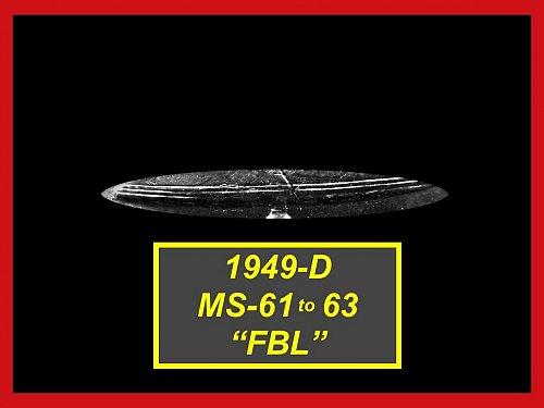 "1949-D  Franklin Half Dollar –  """"MS-61 - MS-63"" ––– (#1487)"