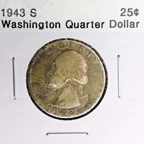 1943 S Washington Quarter Dollar