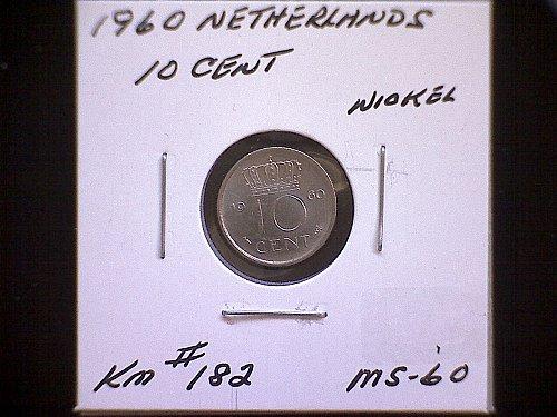 1960 NETHERLANDS TEN CENT