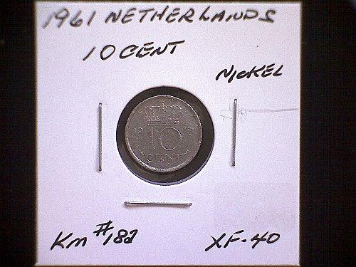 1961 NETHERLANDS TEN CENT
