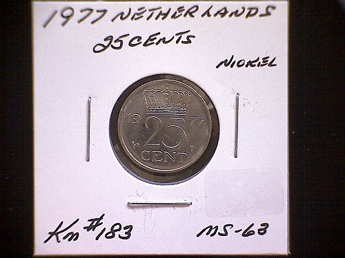 1977 NETHERLANDS TWENTY-FIVE CENT