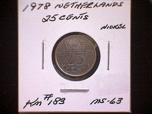 1978 NETHERLANDS TWENTY-FIVE CENT