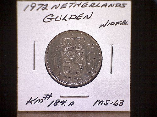 1972 NETHERLANDS ONE GULDEN