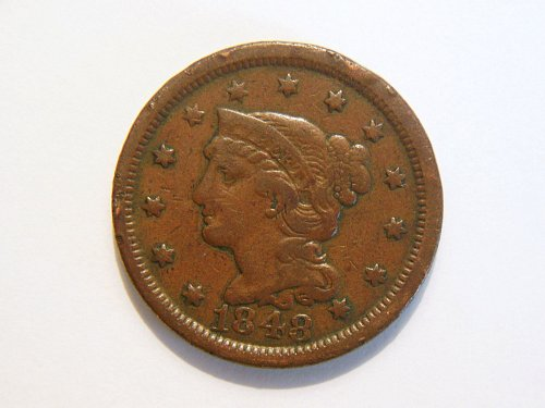 1848 Braided Hair Liberty Large Cent