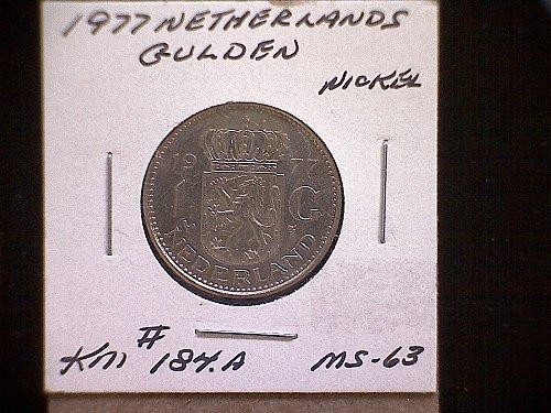 1977 NETHERLANDS ONE GULDEN