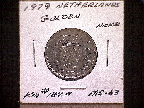1979 NETHERLANDS ONE GULDEN