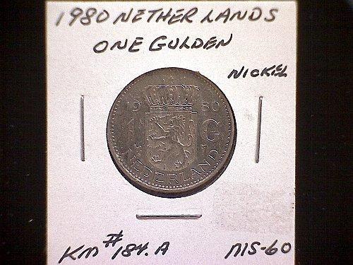 1980 NETHERLANDS ONE GULDEN