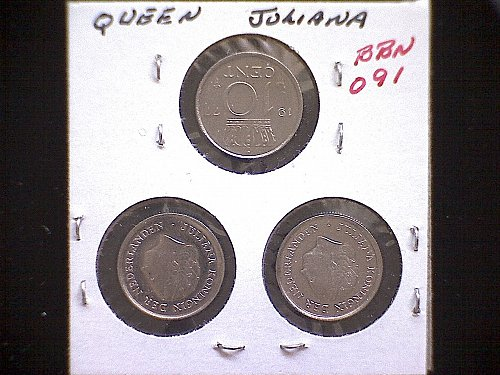 1977-78-79 NETHERLANDS TEN CENT (3 COIN LOT)
