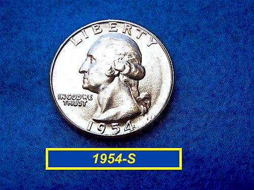 1954-S Brilliant Uncirculated Washington SILVER    (#2490)