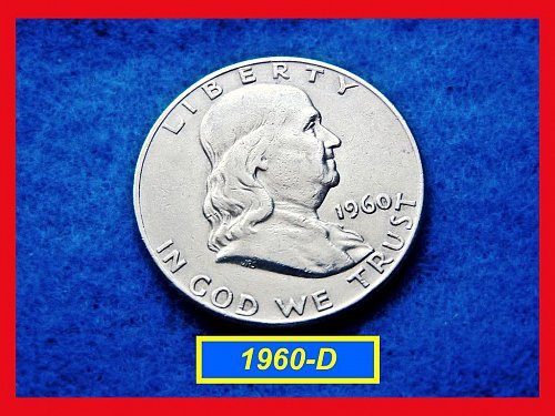 1960-D  Franklin Half Dollars ––– Circulated    (#1571)