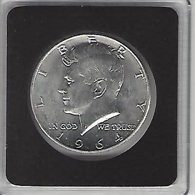 Brilliant Uncirculated 90% Silver 1964-D Kennedy Half Dollar