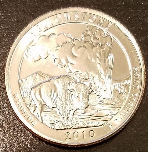 2010-D Yellowstone ATB Quarter - From US Mint Roll (6578)