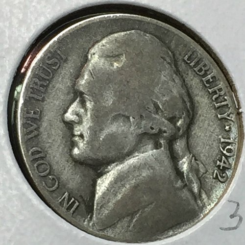 1942-P Jefferson Wartime Nickel (40713)