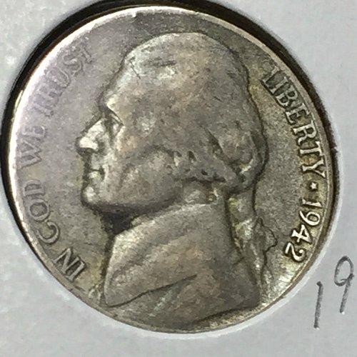 1942-P Jefferson Wartime Nickel (40749)