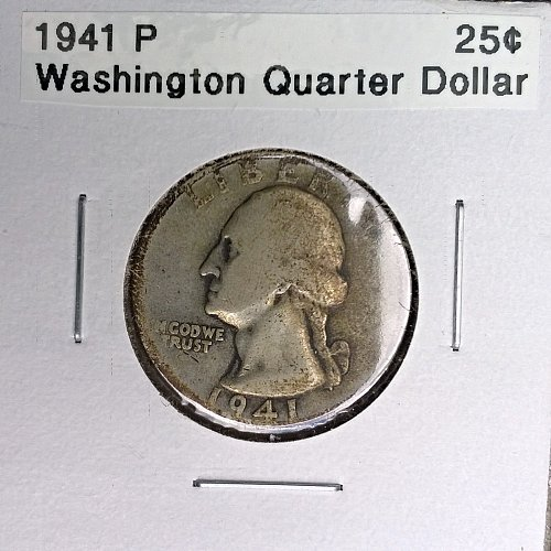 1941 P Washington Quarter Dollar