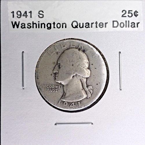 1941 S Washington Quarter Dollar