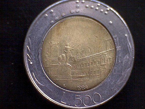 1988R ITALY FIVE HUNDRED LIRE