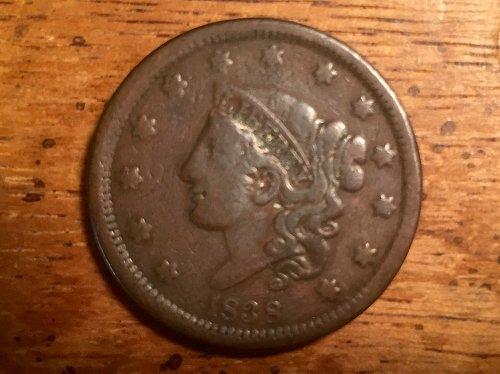 1838 Coronet Cent