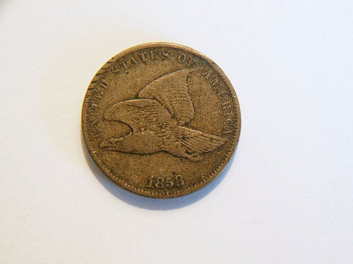 1858 *Small Letters* Flying Eagle Cent