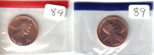 1989  P& D  LINCOLN CENTS