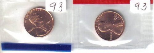 1993  P& D  LINCOLN CENTS