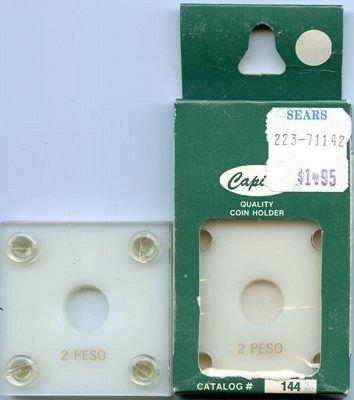 Capital Plastic #144 Holder - Mexico 2 Peso - White - New Condition Closeout