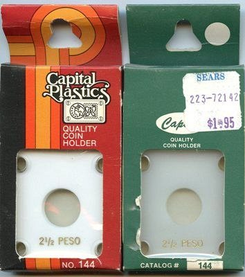 Capital Plastic #144 Holder - Mexico 2-1/2 Peso - White - New Condition Closeout