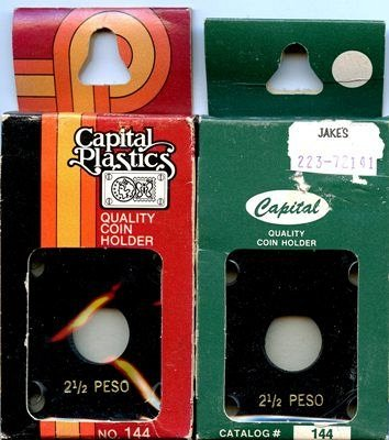 Capital Plastic #144 Holder - Mexico 2-1/2 Peso - Black - New Condition Closeout