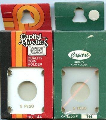 Capital Plastic #144 Holder - Mexico 5 Peso - White - New Condition Closeout