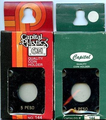 Capital Plastic #144 Holder - Mexico 5 Peso - Black - New Condition Closeout