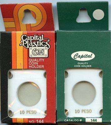 Capital Plastic #144 Holder - Mexico 10 Peso - White - New Condition Closeout