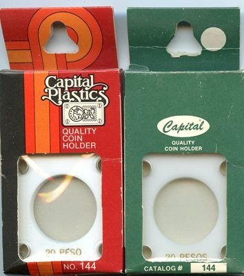 Capital Plastic #144 Holder - Mexico 20 Peso - White - New Condition Closeout