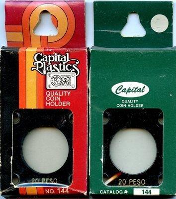 Capital Plastic #144 Holder - Mexico 20 Peso - Black - New Condition Closeout