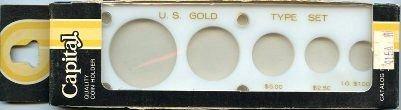 "Capital Plastics ""U.S. Gold Type Set"" 5-Coin Holder - Lg. Gold Dollar - White -"