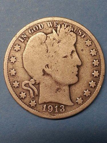 1913 Barber Half