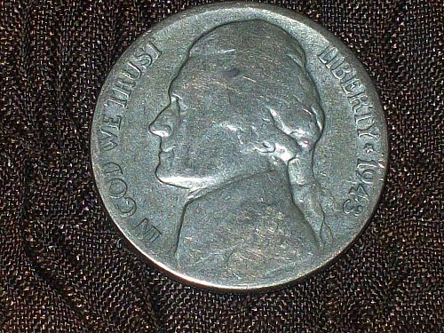 1943-P Jefferson Silver Nickel                   Free Shipping