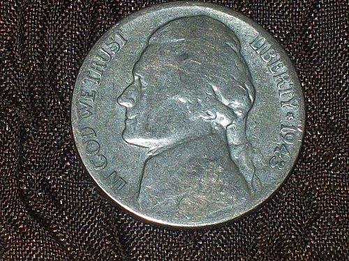 1943-P Jefferson Silver Nickel                   Free Shipping