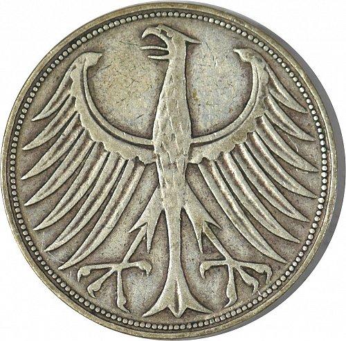 Germany, Bundesrepublik, 1951 5 Marks, Circulated, (Item 379)