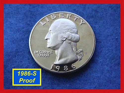 1986-S DEEP CAMEO PROOF Washington Quarter    (#2501)•