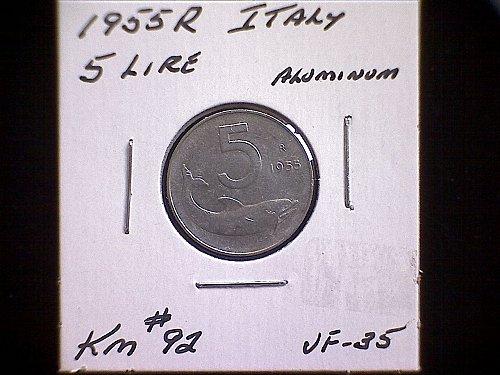1955R ITALY 5 LIRE