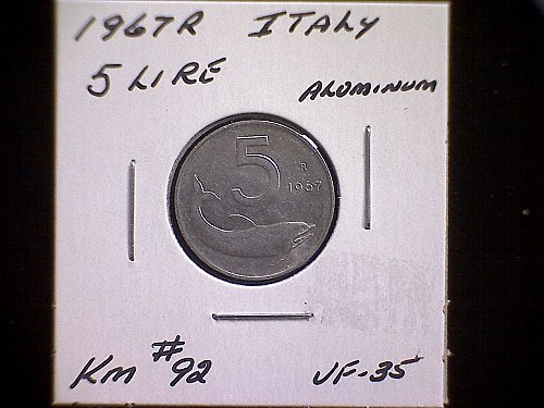 1967R LITALY FIVE LIRE