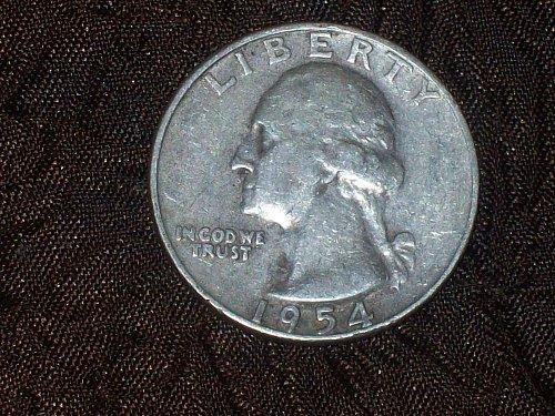 1954-D Washington 90% Silver Quarter                               Free Shipping