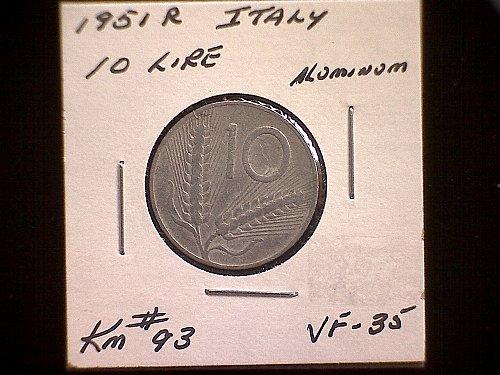 1951R ITALY TEN LIRE
