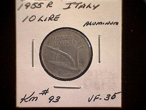 1955R ITALY TEN LIRE