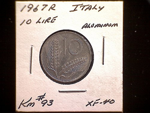 1967R ITALY TEN LIRE