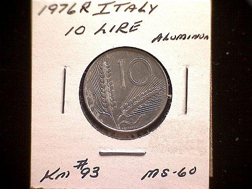 1976R ITALY TEN LIRE