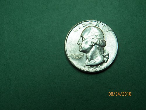 1946 D washington Quarter Brilliant Uncirculated Coin   h93