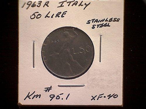 1963R ITALY FIFTY LIRE