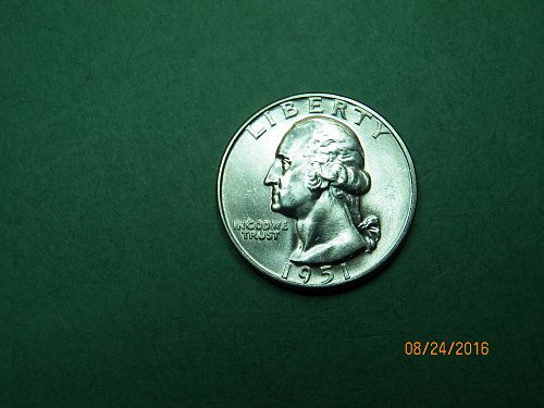 1951 D Washington Quarter Brilliant Uncirculated Gem Coin   h96