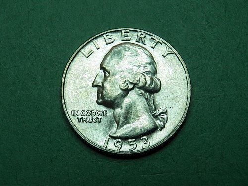 1953 D Washington Quarter Brilliant Uncirculated Coin   h98